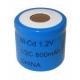 NiCD Batterie 1/2 C 800 mAh Flach - 1,2V - Evergreen