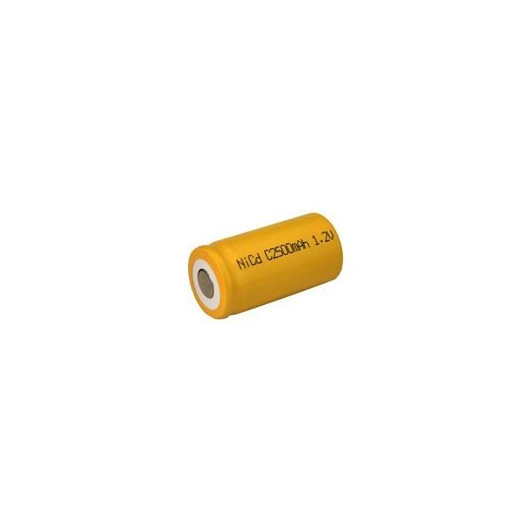 NiCD Batterie C 2500 mAh Flach - 1,2V - Evergreen