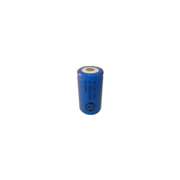 NiCD Batterie D 4000 mAh tête plate - 1,2V - Evergreen