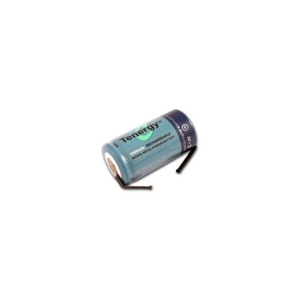 NiMH Akku C 5000 mAh Flach mit Kontaktfahne - 1,2V - Tenergy