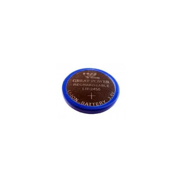 Knopfzelle Li-Ion Akku LIR 2450 - 3,6V