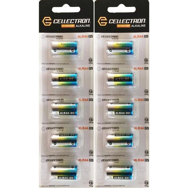 10 x Alkaline Batterie 4LR44 / A544 / PX28 / 476A - 6V Cellectron