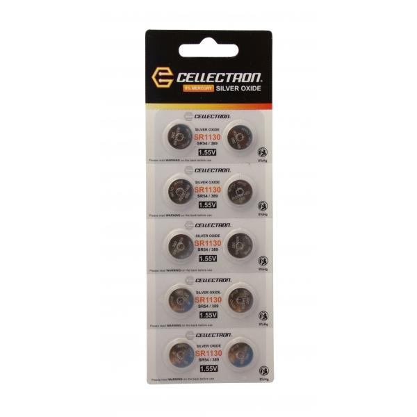 SR1130 10 Silberoxid Knopfzelle SR1130/SR54 / 389 1,55V Cellectron