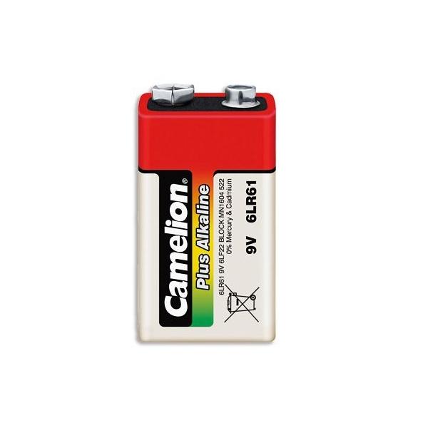 Blockbatterie Alkaline 9V / 6LR61 - 9V