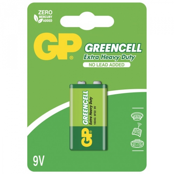 Saline Blockbatterie 9V / 6LR61 - GP Battery