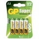 Alkaline Batterie 4 x AA / LR6 - 1,5V - GP Battery