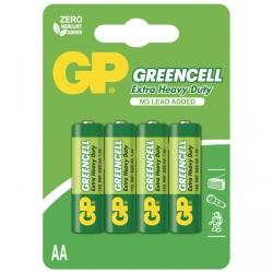Saline Batterie 4 X AA / R6 - 1,5V GREENCELL