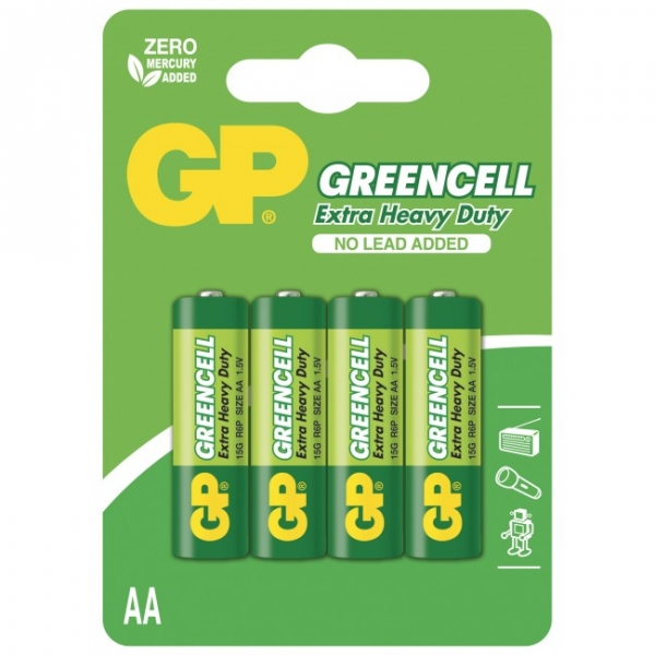 Saline Batterie 4 X AA / R6 - 1,5V GREENCELL