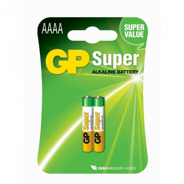 Blockbatterie Alkaline 2 x AAAA / LR61 SUPER - 1,5V - GP Battery
