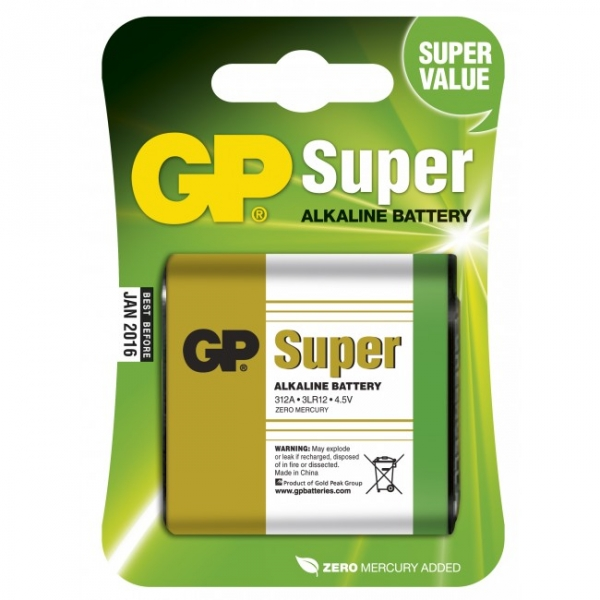 Blockbatterie Alkaline 1 x 3LR12 4,5V SUPER - GP Battery