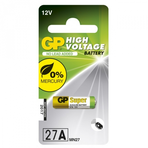 Blockbatterie Alkaline 1 x 27A / MN27 - 12V - GP Battery