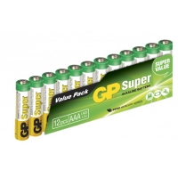 Blockbatterie Alkaline 12 x AAA / LR03 SUPER - 1,5V - GP Battery
