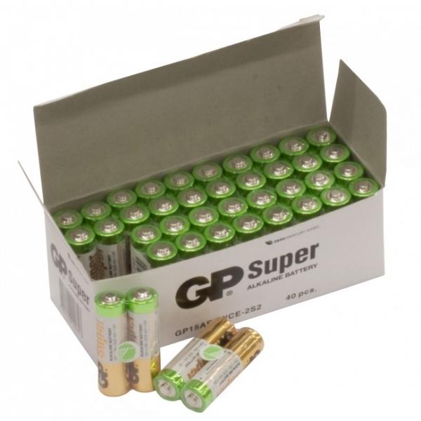 Blockbatterie Alkaline 2 x AA / LR6 SUPER - 1,5V - GP Battery