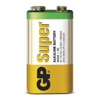Blockbatterie Alkaline 1 x 9V / 6LF22 SUPER - 9V - GP Battery
