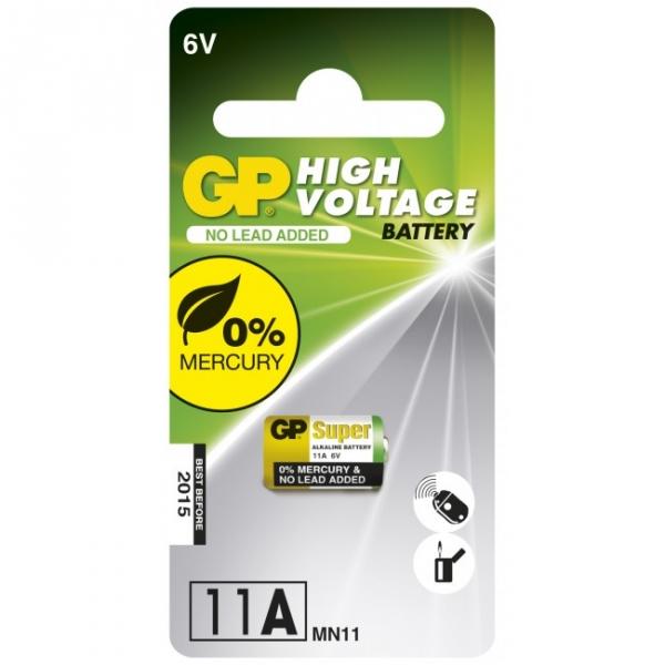 Alkaline Zylinderbatterie Batterie 1 x 11A / MN11 - 6V - GP Battery