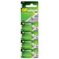 Alkaline Knopfzelle 5 x GP 186 / LR43 / V12GA - 1,5V - GP Battery