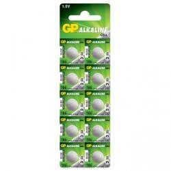 Alkaline Knopfzelle 10 x GP 186 / LR43 / V12GA - 1,5V - GP Battery