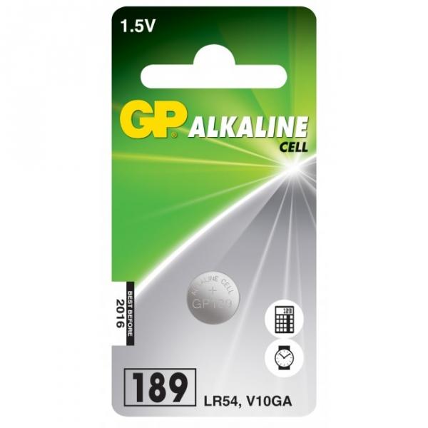 Alkaline Knopfzelle 1 x GP 189 / LR54 / V10GA - 1,5V - GP Battery