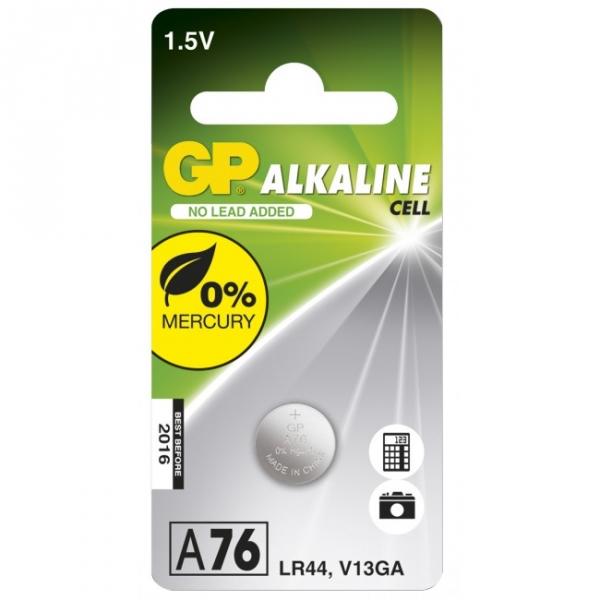Alkaline Knopfzelle GP A76 / LR44 / V13GA - 1,5V - GP Battery