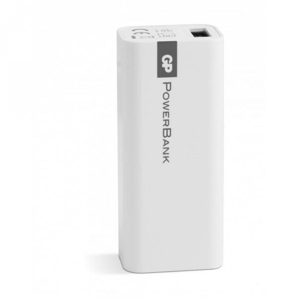 Tragbare batterie Yolo GP 1C02A 2600mAh In 1A / Out 1A / Li-Ion, weiß