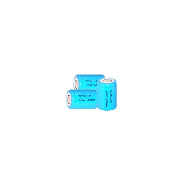 NiCD Batterien 4/5 A 1200 mAh Flachkopfbatterie - 1,2V - Evergreen