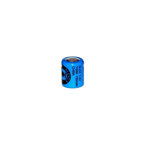 Batterie NiCD 1/3 AA 150 mAh Flachkopfbatterie - 1,2V - Evergreen