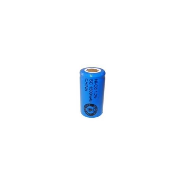 Batterie NiCD Sub C 1500 mAh Flachkopfbatterie - 1,2V - Evergreen