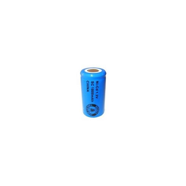 Batterie NiCD Sub C 1800 mAh Flachkopfbatterie - 1,2V - Evergreen