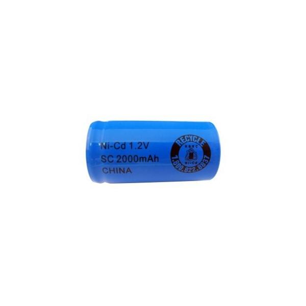 Batterie NiCD Sub C 2000 mAh Flachkopfbatterie - 1,2V - Evergreen