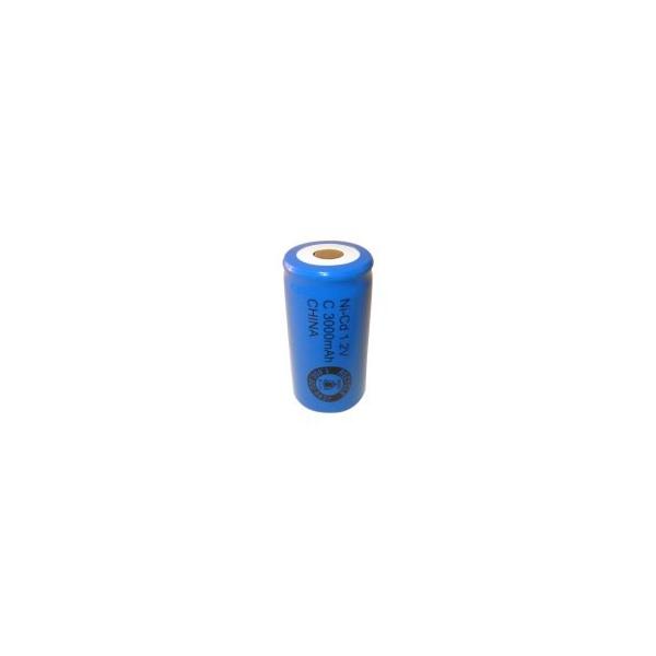 Batterie NiCD C 3000 mAh Flachkopfbatterie - 1,2V - Evergreen