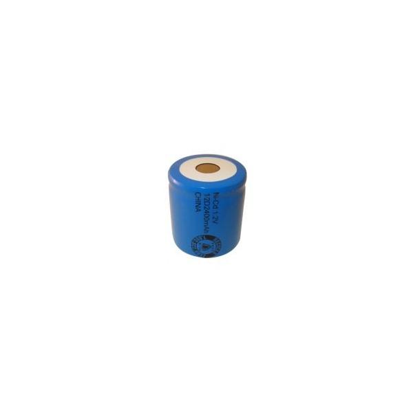 Batterie NiCD 1/2 D 2400 mAh Flachkopfbatterie - 1,2V - Evergreen