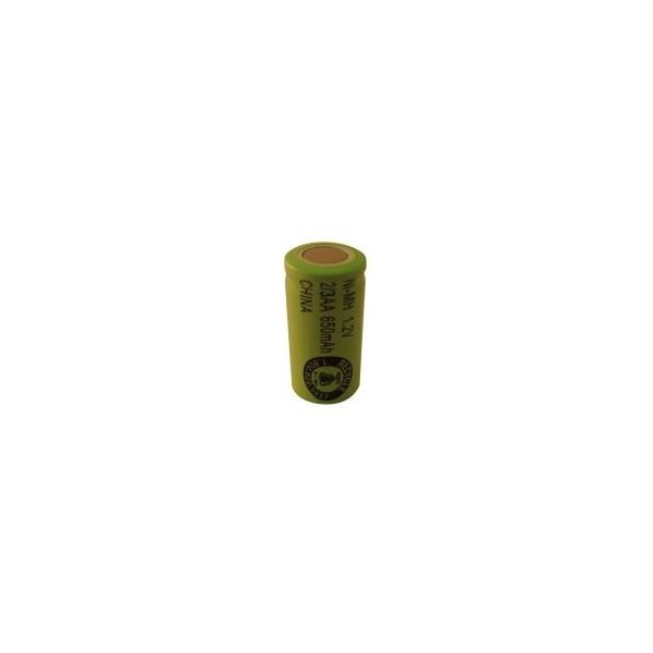 Batterie NiMH 2/3 AA 650 mAh Flachkopfbatterie- 1,2V - Evergreen