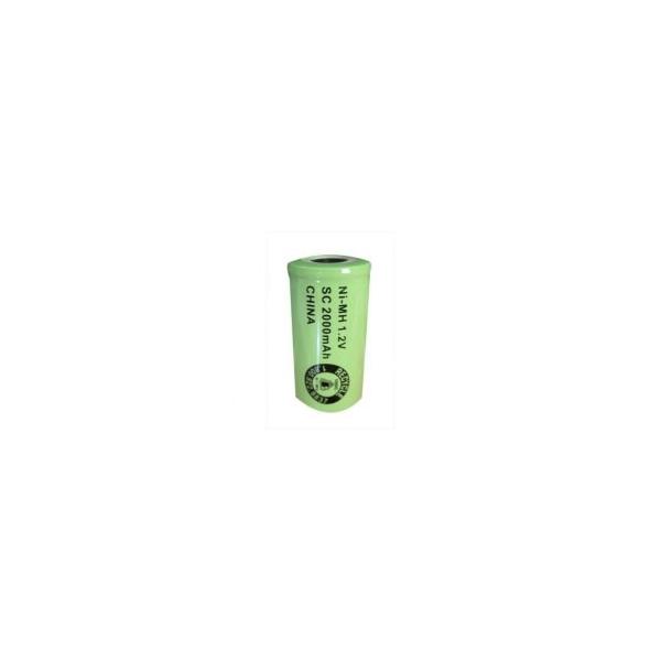 Batterie NiMH Sub C 2000 mAh Flachkopf - 1,2V - Evergreen