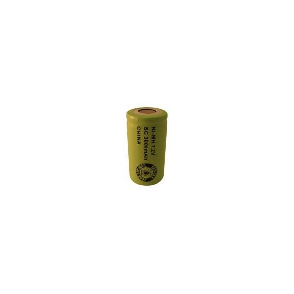 Batterie NiMH Sub C 3000 mAh Flachkopf - 1,2V - Evergreen