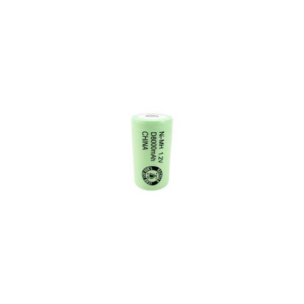 Batterie NiMH D 8000 mAh Flachkopf - 1,2V - Evergreen